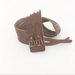NWT J Crew double buckle leather belt equestrian S
